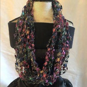 Handmade Crochet Bib Necklace Statement Jewelry